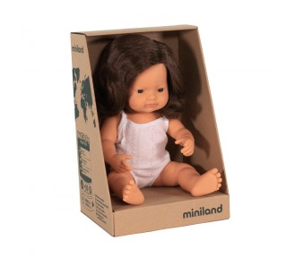 Miniland Doll - Anatomically Correct Baby, Caucasian Girl,  Brunette, 38 cm - 15/6 SOLD OUT SO AVAIL 15/7