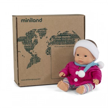 Miniland Doll - Anatomically Correct Baby, Asian Girl and Outfit Boxed, 21 cm (UNDRESSED) - AVAIL 3/8