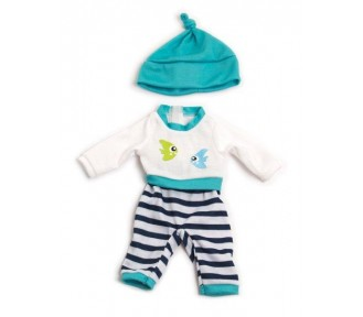 Miniland Clothing Turquoise winter pyjamas, (32cm doll) - AVAIL 1/4/19