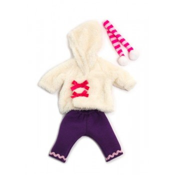 Miniland Clothing White run winter set,  (32cm doll)