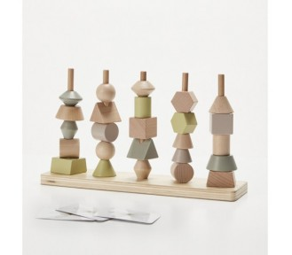 Astrup Wooden Stacking Tower Set, 26 pcs - AVAIL 4/8