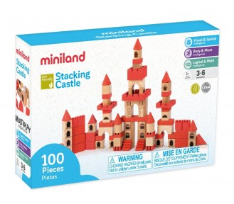 Miniland Aptitude Eco Wooden Stacking Castle Set, 100 pcs - AVAIL 3/8