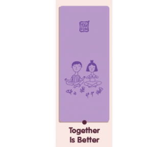 Yogi FUN Kids Yoga Deluxe Mat, Purple - AVAIL JUNE