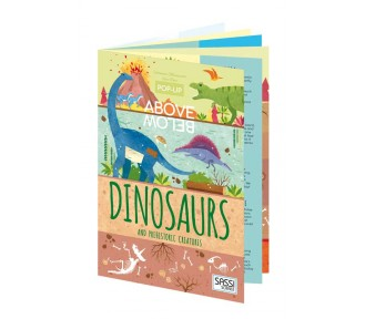 Sassi Above & Below Book - Dinosaurs & Prehistoric Creatures