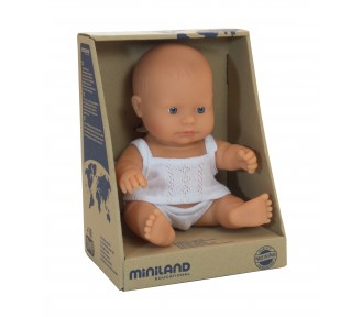 Miniland Doll - Anatomically Correct Baby, Caucasian Boy, 21 cm - AVAIL 1/3