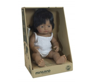 Miniland Doll - Anatomically Correct Baby, Latin American Girl, 38 cm - AVAIL 22/1/19 - 226 LEFT
