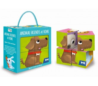 Sassi Cube Puzzle & Book - My Animal Friends at Home - JUST 3 LEFT
