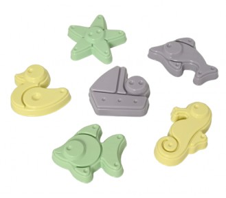 Plasto I AM GREEN Sand Moulds, 6 pieces - AVAIL 2/2