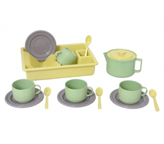 "Plasto ""I AM GREEN"" Coffee for 4, 15 pcs - AVAIL 1/6"