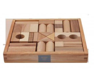 Wooden Story Blocks Natural, 30 pieces