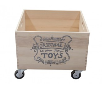 Wooden Story Large Storage Crate on Wheels - AVAIL 1/3/19