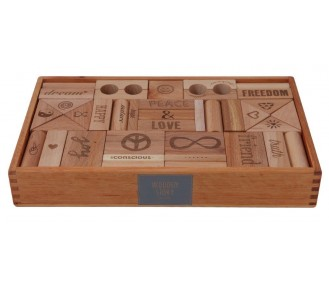 Wooden Story Blocks Natural Peace & Love®, 108 pieces