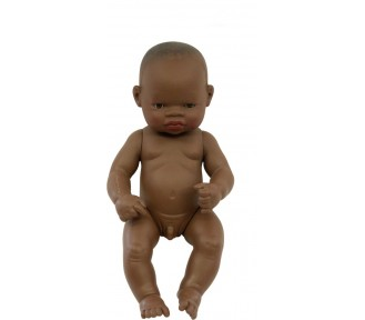 Miniland Doll - Anatomically Correct Baby,  African Boy, (undressed),  32 cm - AVAIL 29/10